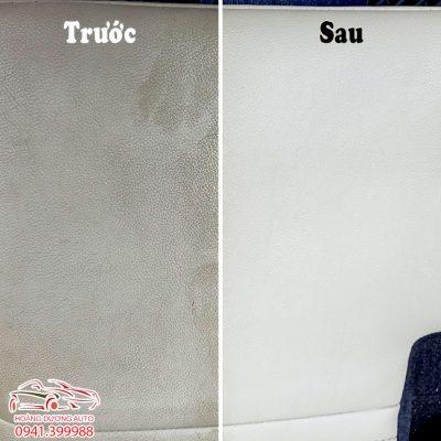 Trước và sau khi Phục Hồi Ghế Da Ô Tô